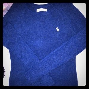 Blue A&F sweater, size small
